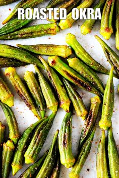 Need a quick and easy Southern side dish for summer? You can't go wrong with this simple okra recipe! It's a healthy, quick-fix side for perfectly cooked oven-roasted okra seasoned with salt, pepper, and garlic powder. Oven Roasted Okra, Roasting Garlic In Oven, Okra Recipes, Vegetable Recipes, Cooking Recipes, How To Cook Okra, Southern Side Dishes, Low Fat Cooking, Vegetable Casserole