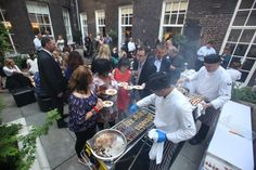 A BBQ in full-swing in our Garden Terrace. Every year our team of chefs create new and exciting BBQ menus for summer parties at the House.
