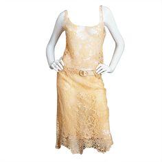 1stdibs.com | 1990s Pale Peach Lace & Knit Valentino