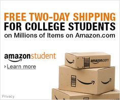 Join Amazon Student FREE Two-Day Shipping for College Students  $3 for Free Trials Earn a fixed advertising fee for visitors you get to sign up for Amazon Student Free Trials.  Our membership program offers special benefits to college students: * Unlimited FREE Two-Day Shipping (with no minimum order size) * Exclusive deals and promotions