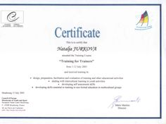 Certificate of attendance and completion of Training for Trainers. Bee Certificate, Award Certificates, Certificate Templates, Letter Templates Free, Best Templates, Resume Templates, Youth Activities, Educational Activities, Spelling Bee