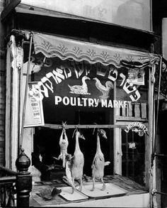 Andreas FEININGER :: Poultry market, Lower East Side, Manhattan, 1940