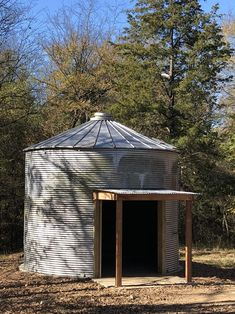 Grain Silo, Bin Store, Concrete Pad, Yard Art, Outdoor Spaces, Gazebo, Upcycle, House Plans, Grains