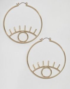 ASOS | ASOS Open Eye Hoop Earrings