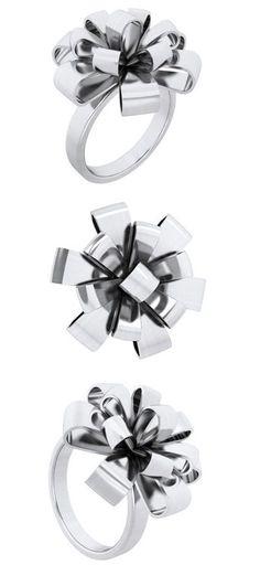ribbon bow ring ♡