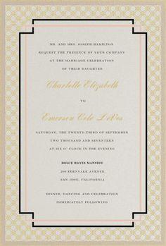 Interlinked Wedding Invitation