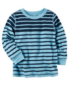 Toddler Boy Long-Sleeve Striped Tee from Carters.com. Shop clothing & accessories from a trusted name in kids, toddlers, and baby clothes.