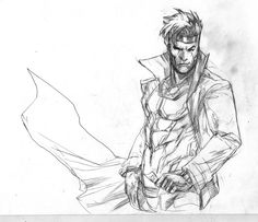 gambit by Peter-v-Nguyen on DeviantArt Gambit X Men, Rogue Gambit, Comic Book Guy, Comic Book Artists, Rogue Character, Character Art, Character Sketches, Character Design, Marvel Art