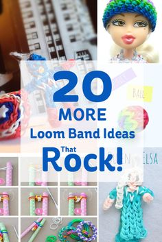 20 MORE Loom Band Ideas that Rock! #loombands #looming #rainbowloom