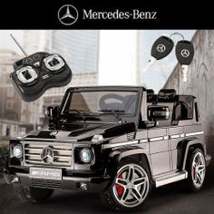 Licensed Mercedes-Benz Kids Electric Ride-On Car Battery 12v Toy Black AMG G55