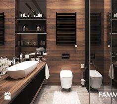 Aranżacje wnętrz - Łazienka: ELEGANCJA W WERSJI MINI - Średnia łazienka w bloku bez okna, styl nowoczesny - FAMM DESIGN. Przeglądaj, dodawaj i zapisuj najlepsze zdjęcia, pomysły i inspiracje designerskie. W bazie mamy już prawie milion fotografii!