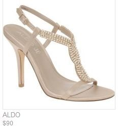 charming little shoe with added blitz - not overrated or tacky. Perfect for a summer wedding or just to wear with a nice pair of jeans!
