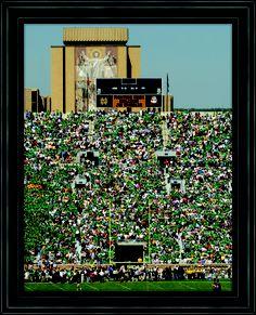 Touchdown Jesus at Notre Dame Stadium.