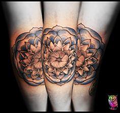 My new tattoo on my elbow, by Zsuzsink #mandala #tattoo #zsuzsink