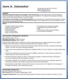 mortgage underwriter resume examples - Underwriter Resume Sample