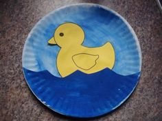 Duck Paper Plate - use the duck template at http://makinglearningfun.com/themepages/Duck-PatternOutline.html