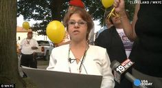 "Kidnap victim releases yellow balloons as ""house of horrors"" is brought down."