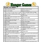 Hunger Games- Would You Rather questions