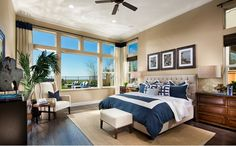 The spacious master suite provides a spa-like retreat with an oversized shower, soaking tub and a dual walk-in closets. - Residence Two at Cabrillo at Verdera in Lincoln, CA