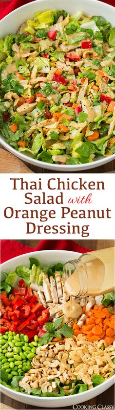 Thai Chicken Salad with Orange Peanut Ginger Dressing - loved all the flavors of this salad! SO good!!