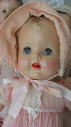 I seriously want to start collecting vintage baby dolls.  love them.  I love to think of how much someone loved a doll and cared for it.