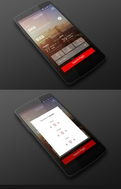 Flight booking app design created by Esolz