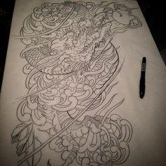 Sleeve for next week #tattoo#tattoos#tattooart#japaneseart#japanesedragon#japanesetattoo#japanesetattoosub#japanesecollective#japaneseflowertattoo#dragon#dragontattoo#orientalart#orientaltattoo#asianart#asiantattoo#asian_inkandart#irezumicollective#