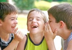 The laughter of children playing