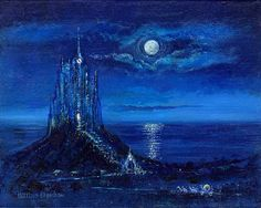 """""""Cinderella's Moonlight Arrival"""" By Harrison Ellenshaw - Hand-Textured Limited Edition of 195 on Canvas, 12 x 16."""