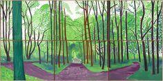DAVID HOCKNEY: LA LOUVER - Woldgate Wood ll, May 16 & 17, 2006