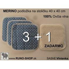 100% Merino Wool / 100% ovcie runo MERINO Podložka na stoličku  40 x 40 cm AKCIA