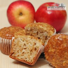 Briose cu mere si ghimbir/ Яблочно-имбирные кексы