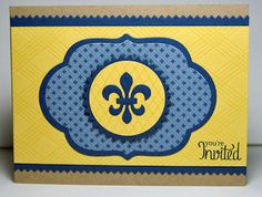#1 Fave so far! Think this is the winner for 2013 :-) Cub Scout Blue & Gold Banquet invitations