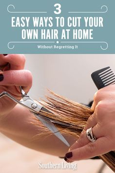 3 Easy Ways to Cut Your Own Hair at Home Without Regretting It Diy Hair Trim, Trim Your Own Hair, How To Cut Your Own Hair, Self Haircut, Diy Haircut, Pixie Haircut, Cut Own Hair, Cut Hair At Home, Hair Cut Diy