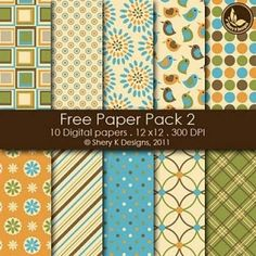 Free Digital Scrapbook Papers {Printable Scrapbook Paper}