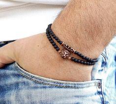 Bohemian Bracelets, Handmade Bracelets, Bracelets For Men, Fashion Bracelets, Cute Bracelets, Beaded Bracelets, Leather Bracelets, Bracelet Knots, Bracelet Set