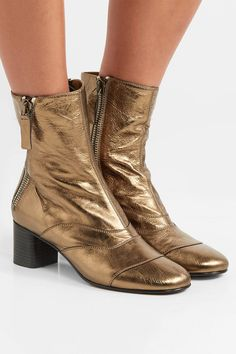 c258e764d8d7 Chloé - Lexie metallic leather ankle boots