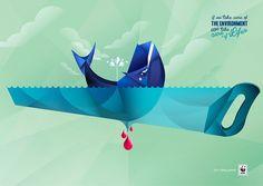 Raul Gómez  - Ilustraciones para campaña publicitaria de WWF / Adena, dirigida por la agencia Contrapunto.