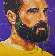 """""""a leader and commander to the people"""" 120 x 120 x cm Art by Munro Men Of Courage, South African Artists, Portrait, Face, People, Painting, Painting Art, Portrait Illustration, Paintings"""