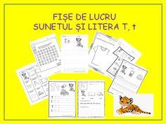 Fise litere | CLASA PREGATITOARE Free Preschool, Preschool Worksheets, Preschool Printables