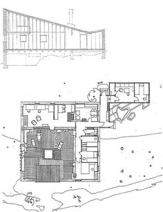 Muuratsalo Experimental House by Alvar Aalto, Finland, 1953 Architecture Drawings, Historical Architecture, Architecture Plan, Amazing Architecture, Alvar Aalto, Perspective Drawing Lessons, Patio Plans, Ludwig Mies Van Der Rohe, Best House Plans