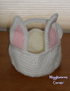 Easter basket- my own pattern I came up with
