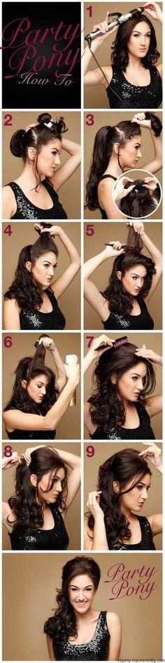 Cute ponytail ~ DIY Everyday Hairstyles School Step by step ~ I love it:)