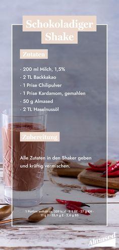 Ein süßes Frühstück? Unser Schokoladiger Shake bildet eine gesunde Alternative! 💪Kreiere deinen Lieblings-Herbstshake – welches sind deine Lieblingszutaten? #almased #fragalma #gesunderezepte #schokoshake #staystrong