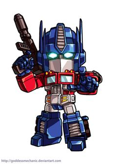 Optimus prime fan art by GoddessMechanic on DeviantArt Chibi Superhero, Chibi Marvel, Transformers Armada, Transformers Cybertron, Avengers Cartoon, Transformers Masterpiece, Marvel Comic Universe, Super Robot, Optimus Prime