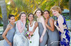 bridemaids beach portrait | playa del carmen, Mexico destination wedding |sandos caracol wedding galleries | Jaime Glez photography