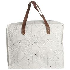 Big square bag with zipper and graphic pattern from House Doctor