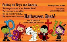 Halloween Kids Party Invitation #halloween #halloweenparty #party #fun #october #fall #invitation #design #pinterest #invitationbox #kids