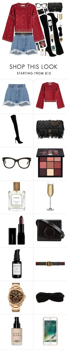 """""""Touch."""" by bianca ❤ liked on Polyvore featuring Ksenia Schnaider, Jonathan Simkhai, Oscar Tiye, Chanel, Tom Ford, Huda Beauty, The Perfumer's Story by Azzi, Nude, Lemaire and Root Science"""