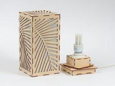 Wooden lamp / Decorative lamp / Laser cut wood lamp / Table